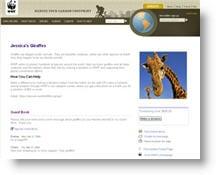 Creare pagine sul sito del WWF per diffondere il proprio messaggio ambientalista