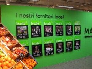 Supermercato COOP a kilometro zero